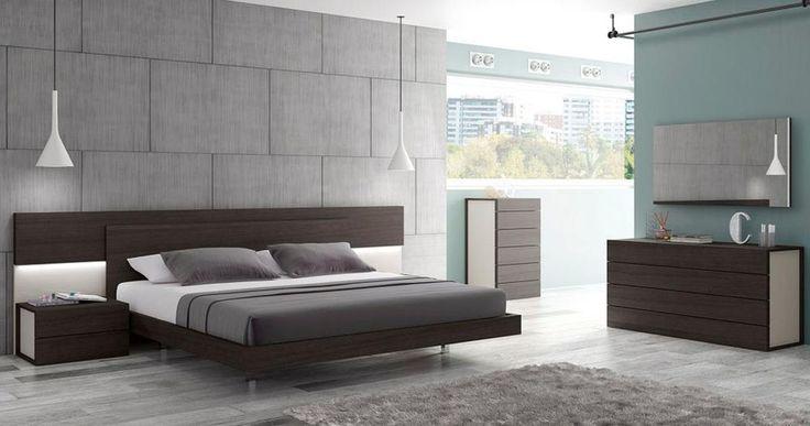 Graceful Wood Modern Contemporary Bedroom Designs feat Light