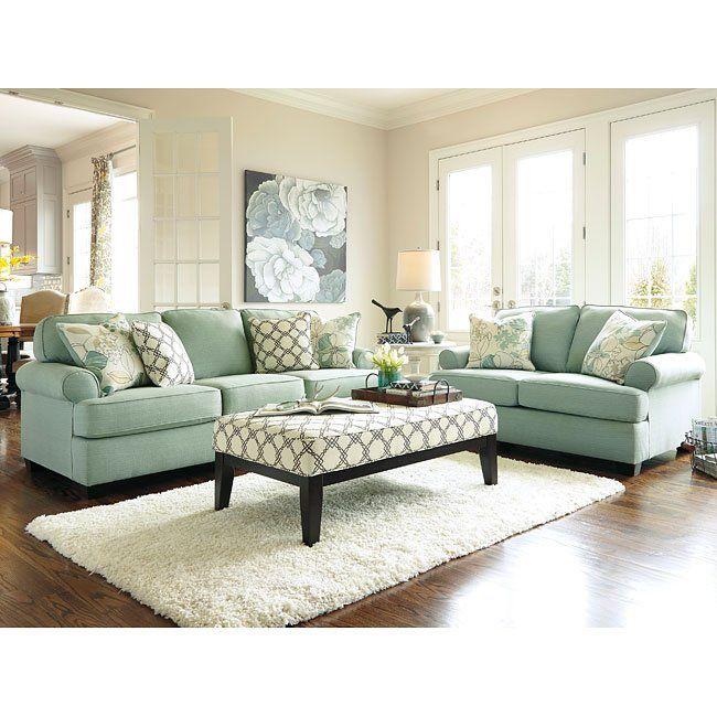 Daystar Seafoam Living Room Set