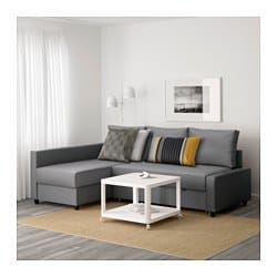 Sleeper sectional,3 seat w/storage FRIHETEN Skiftebo dark gray