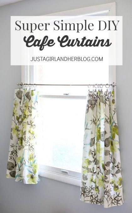 Super Simple DIY Cafe Curtains