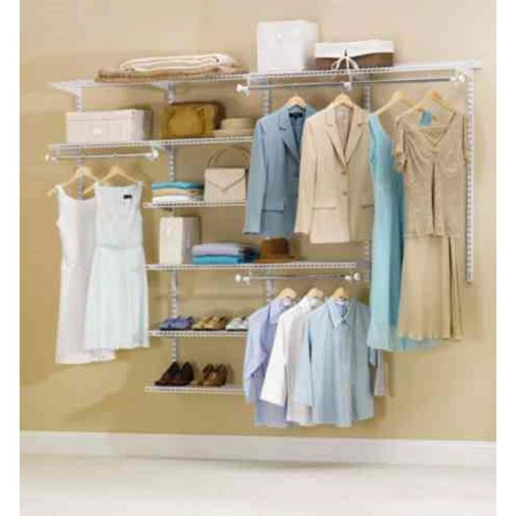 Rubbermaid 48 in. D x 96 in. W x 2 in. H Configurations Custom Metal Closet System 4 - 8 ft. White Deluxe Kit