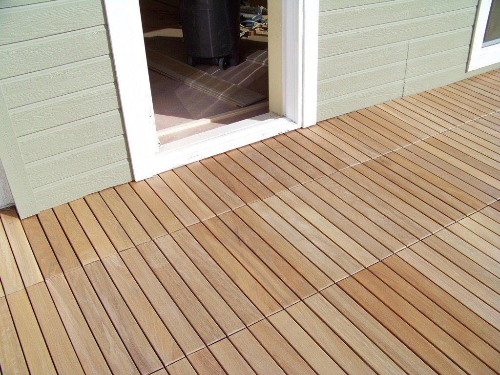 ... eco decking tiles premium interlocking garapa blonde wood deck tiles ... WCJHHCL