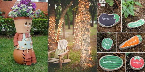 10 awesome diy garden decoration ideas ZKFATRD