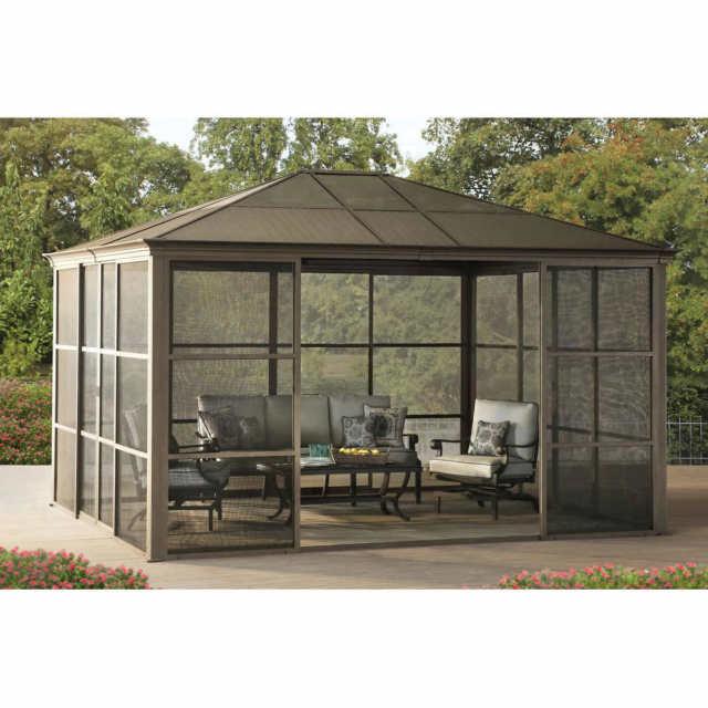 12 x 14 hardtop gazebo metal steel aluminum roof post outdoor for PVMCXKH