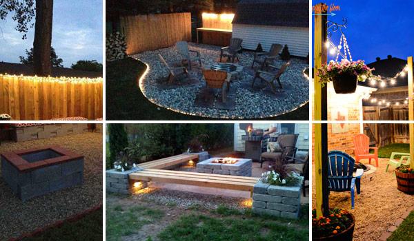 15 diy backyard and patio lighting projects RRXKWMN