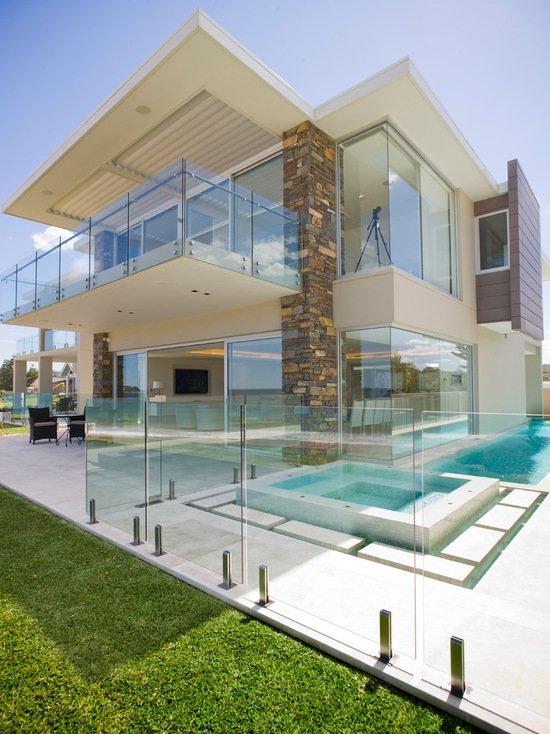 17 stunning glass balcony house design ideas UVGZBXF