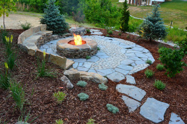 17 wonderful rustic landscape ideas to turn your backyard into heaven XYGVKFP