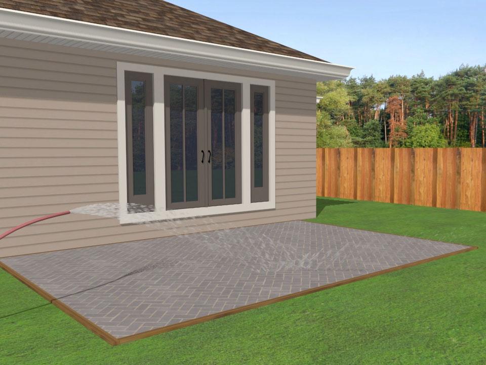 2 easy ways to lay a brick patio - wikihow LDSLZZK