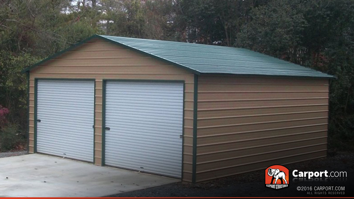 24x26 metal garage building for two cars UHBAUBP
