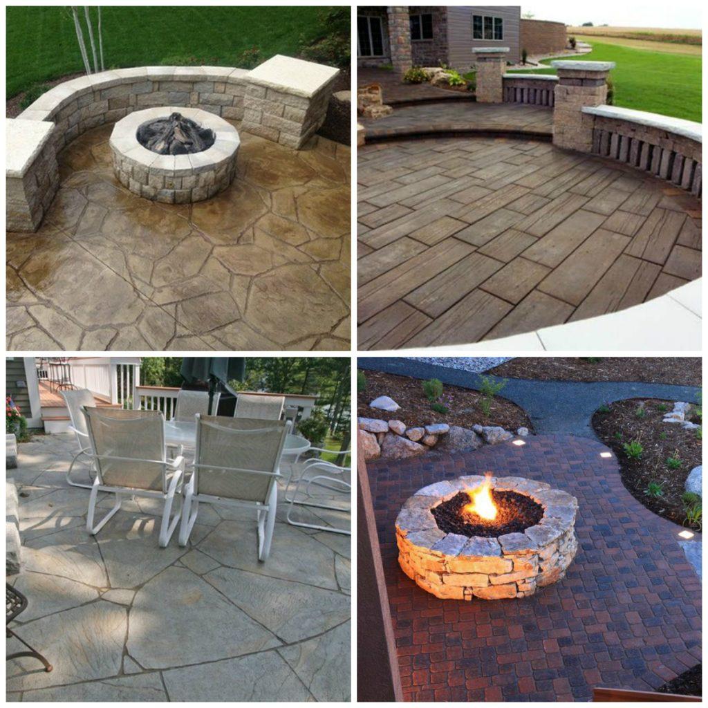 27 amazing stamped concrete patio ideas WXZXAHL