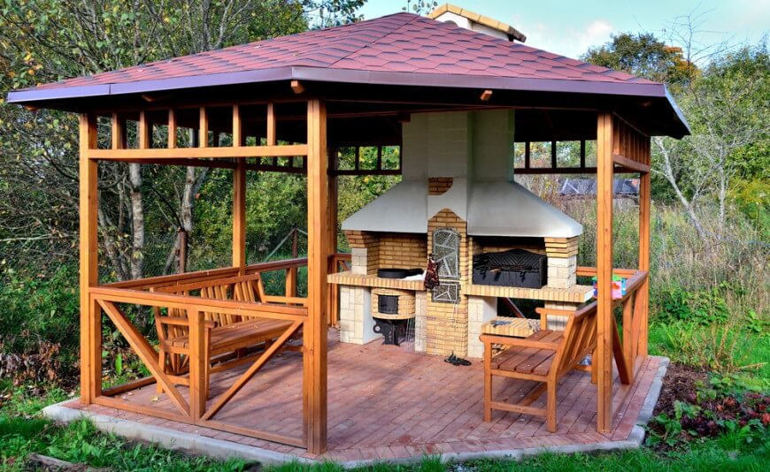 32 wooden gazebos that provide rich design and comfortable spaces WTMRMZS