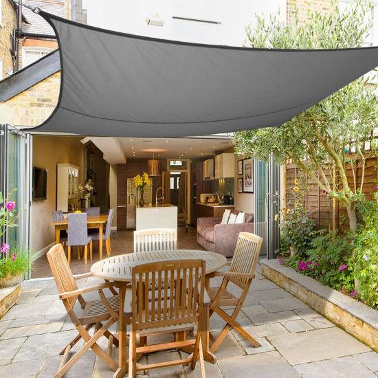3m x 2m sun shade sail garden canopy awning screen 98% uv UZIHVRC