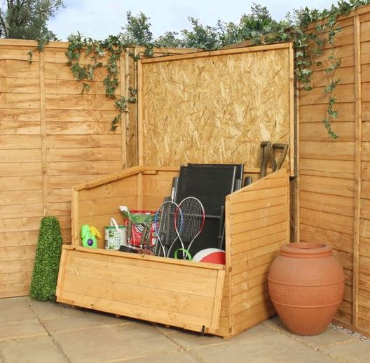 4 x 3 waltons shiplap+ wooden garden storage chest RLIVYCB
