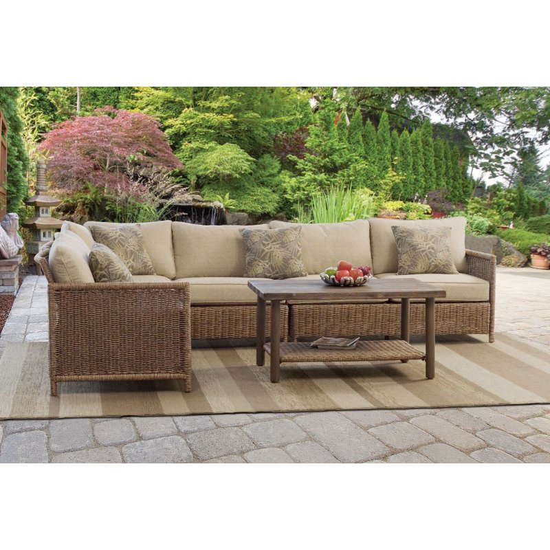 5 piece outdoor patio sectional - shadbrook | rc willey furniture store NFUINVZ