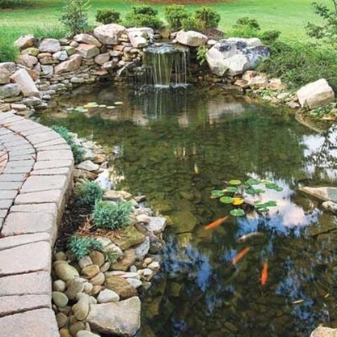 67 cool backyard pond design ideas digsdigs YWZPHTM