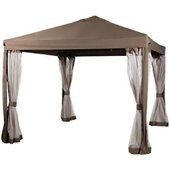 abba patio 10x10 feet gazebo soft top fully enclosed garden canopy with ZNAPHEM