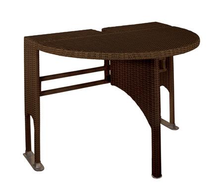 adena wicker folding patio table MVJGHDC