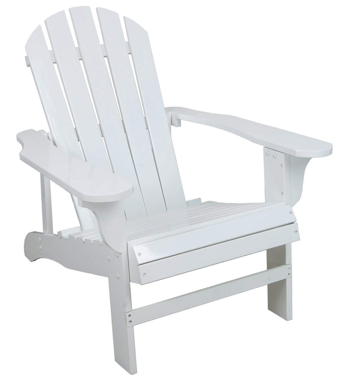adirondack chairs amazon.com : classic white painted wood adirondack chair : chaise lounges XFCZQSF