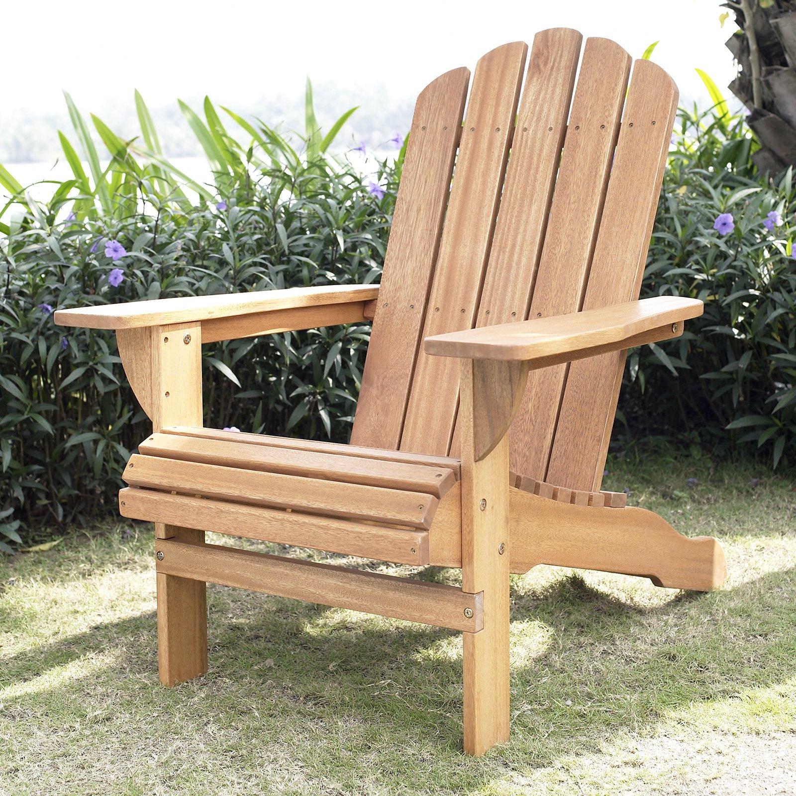 adirondack chairs belham living shoreline adirondack chair - natural - walmart.com HGFNUWK