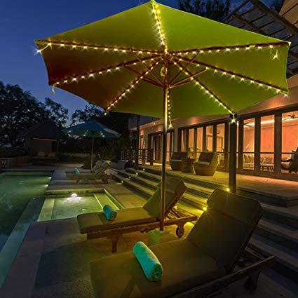 alitutumao patio umbrella lights, 104 led string lights battery operated 8 SVGSZVU