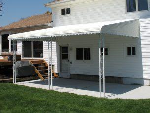 aluminum awnings - aluminum patio awnings GWCRLMV