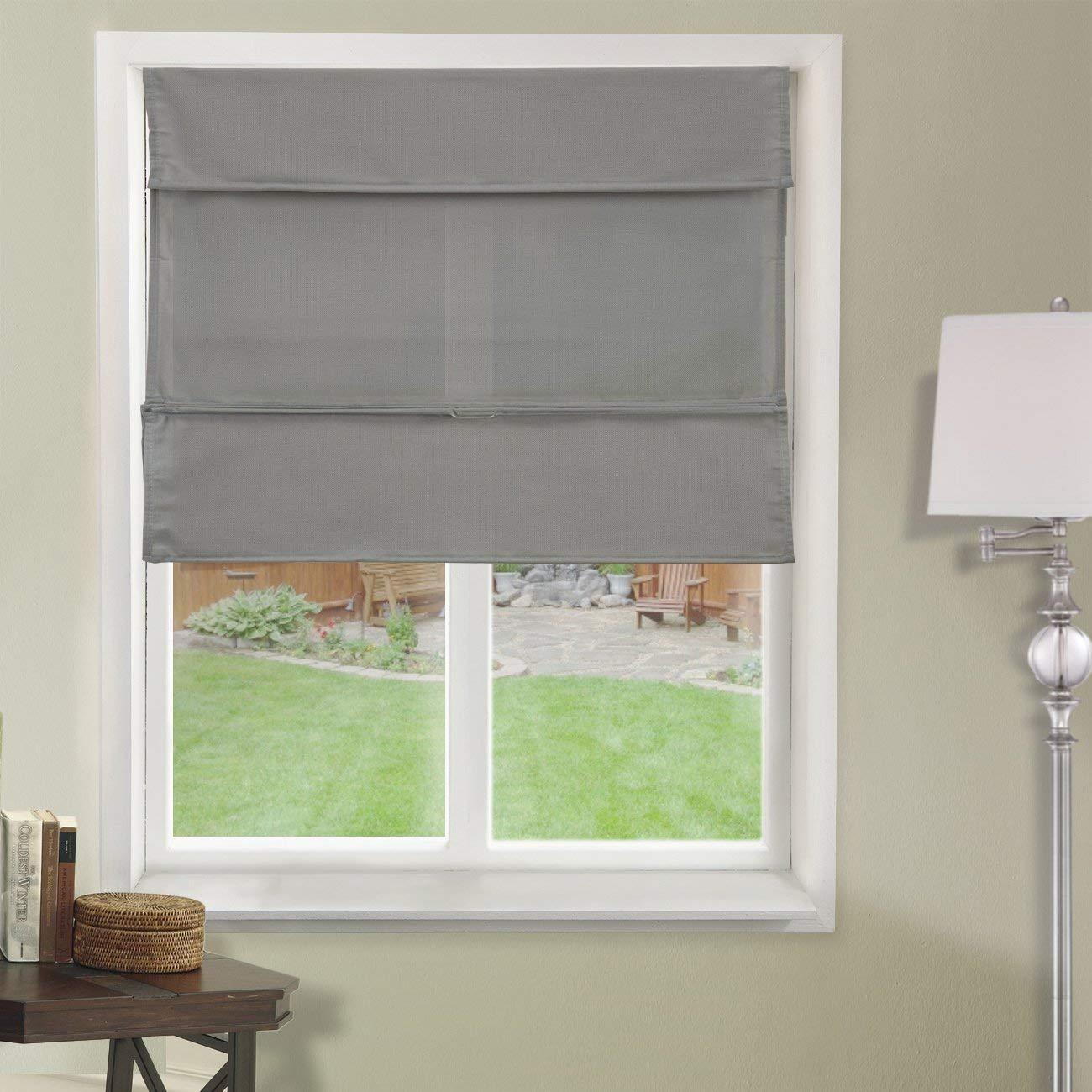 amazon.com: chicology cordless magnetic roman shades/window blind fabric  curtain drape, light MLYGUOU