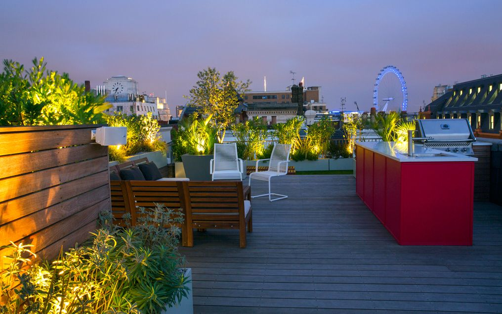 an urban panorama. this expansive, contemporary roof garden ... IVSLJVZ