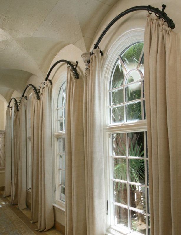 arched window treatments arched window curtain rod more KXEKYXI
