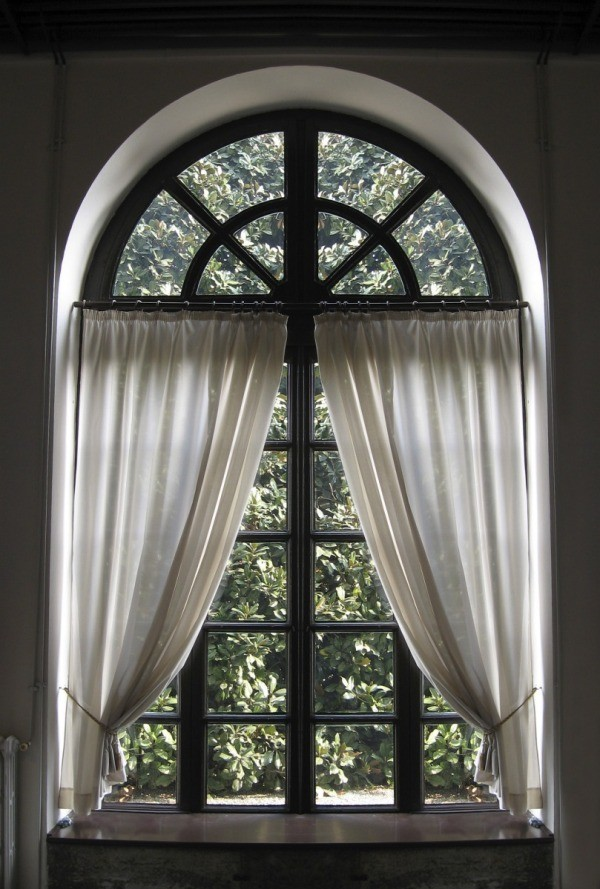 arched window treatments making a curtain for an arched window   thriftyfun UQFKYRV