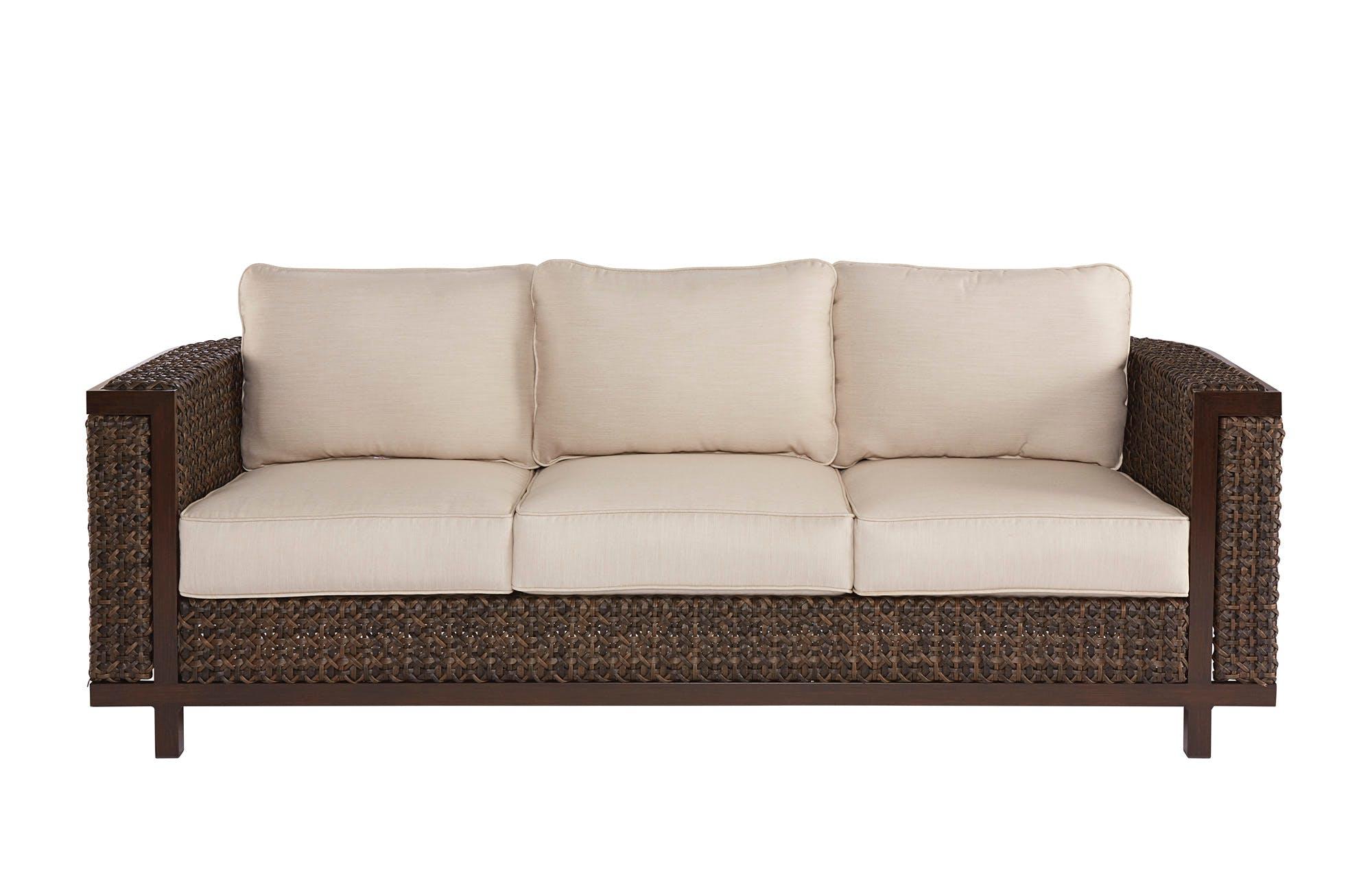 art furniture brentwood wicker sofa 923501-4114 JGWCKZU
