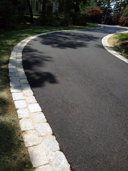 asphalt driveway edging ideas natural stone RMVPXSN
