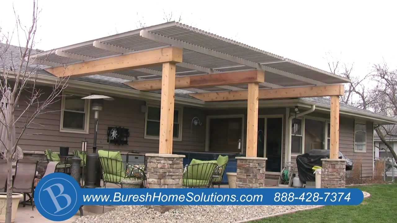 attractive patio roof covers aluminum patio cover youtube residence design  photos SMVMVXI