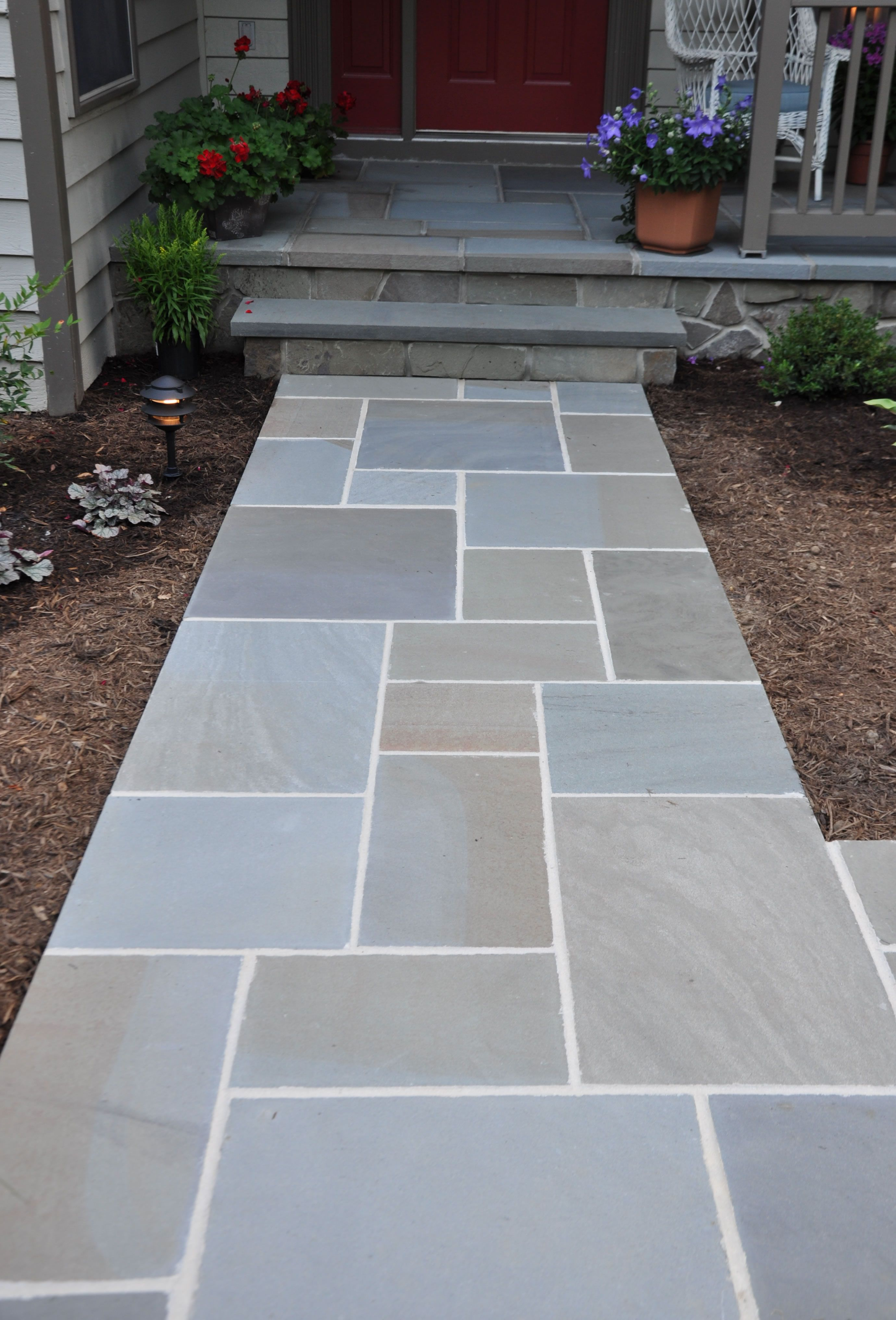 awesome bluestone pavers for pathway in patio design ideas: charming  walkways MJNDIYC
