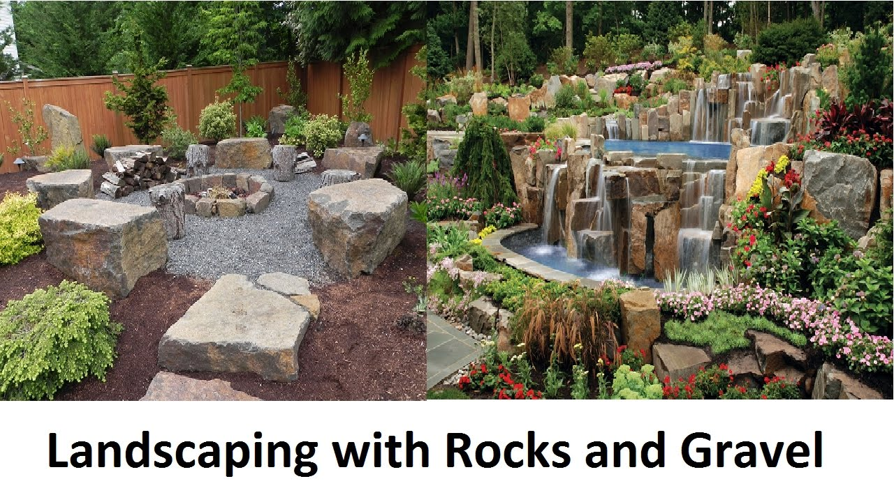 awesome landscaping with rocks and gravel BWRCFTV