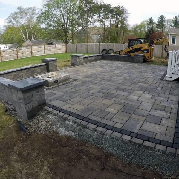 awesome paver patio ideas for backyard KLXJPCK