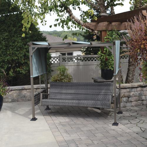 backyard creations® windon park pergola swing at menards® MEMIVGL