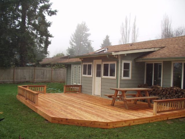 backyard decks covered back deck simple backyard deck is might work for our yard OFTBYAC