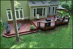 backyard decks multi level deck STHXIWF