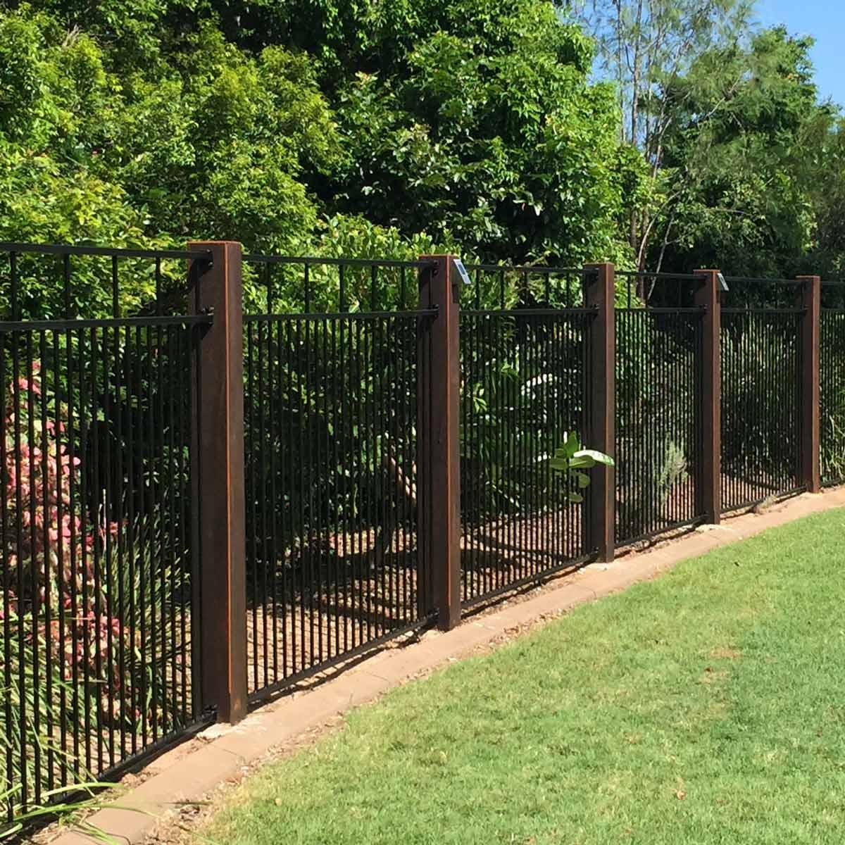 backyard fence ideas iron fence ideas QWGISCJ