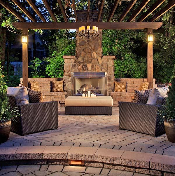 backyard fireplace 53 most amazing outdoor fireplace designs ever SQLOKWP