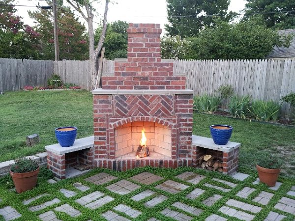 backyard fireplace small outdoor brick fireplaces   related post from diy outdoor fireplace EEMUWTS