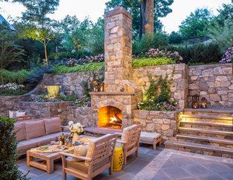 backyard fireplace wood burning outdoor fireplace, terracing outdoor fireplace botanical  decorators olney, md NBEEQAB