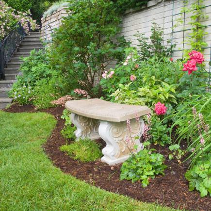 backyard garden ideas decorative seating XPEOMDX