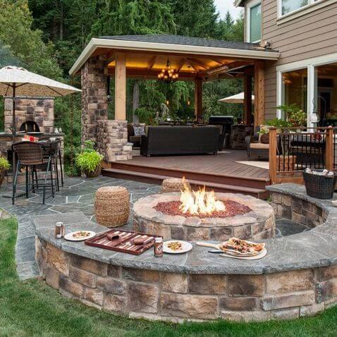 backyard patio ideas sitting here making smores... oh yeah! backyard patio design idea FNPIEUQ