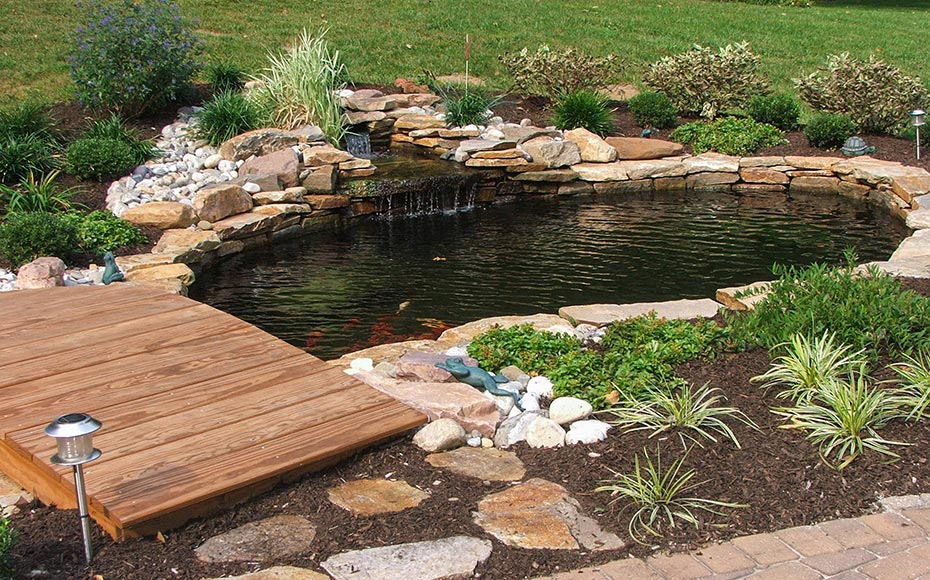 backyard ponds u0026 water features  garden pond design u0026 installation delaware MHXMQUA