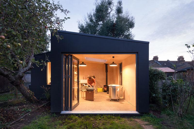 backyard shed british firm grey griffiths architects have designed a modern backyard  pottery EVFJLJL