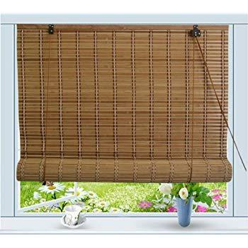 bamboo roll up window blind sun shade w48 EPMHYDR