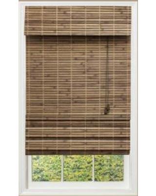 bamboo roman shades blinds - shades driftwood (brown) flatweave bamboo roman shade - 36 in. RHNWDRI