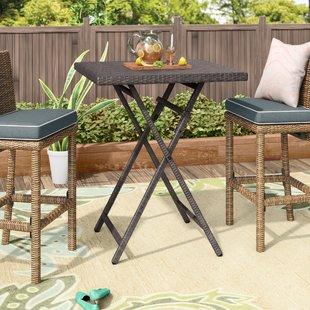 bar height patio set will outdoor wicker bistro table VUCRAGJ