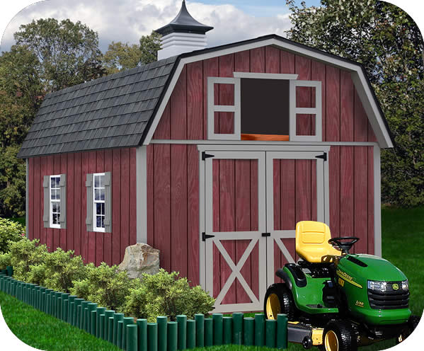 barn sheds woodville 10x12 wood storage shed kit - all pre-cut NLUVKUH